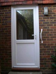 White PVC back door
