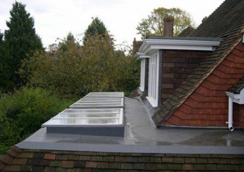 White aluminium roof lights