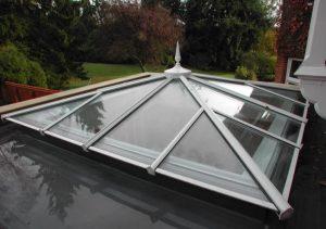 White uPVC roof lantern