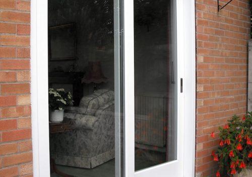 White timber patio door