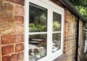 White uPVC flush sash windows
