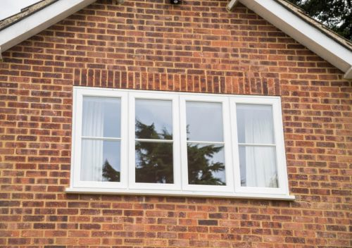 White uPVC timber effect window