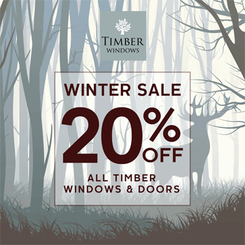20% off all timber windows and doors