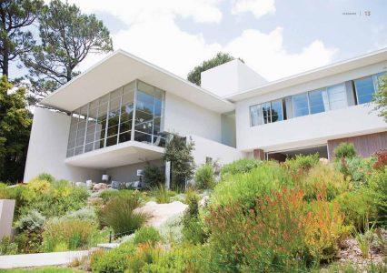 Aluco steel windows on a modern house