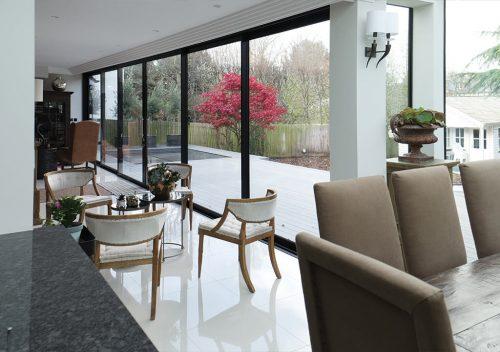 sunflex sliding patio doors interior view