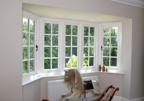 Timber flush sash windows