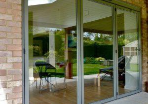 Grey Aluminium Sunflex Bifold Door