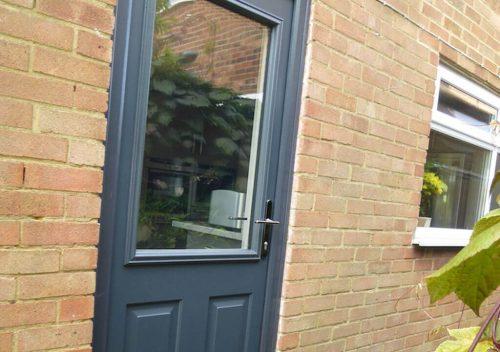 Grey Solidor Composite Back Door