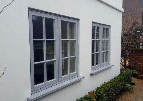 Grey uPVC Flush Sash Windows