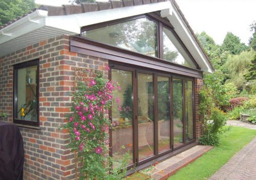 Rosewood Timber Bifold Door