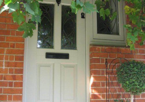 Sage Green Timber Front Door