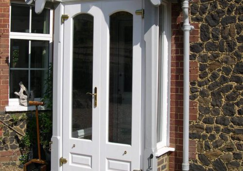 White Timber French Door