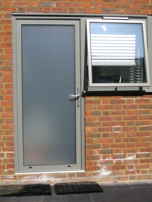 Alitherm Grey Entrance Door