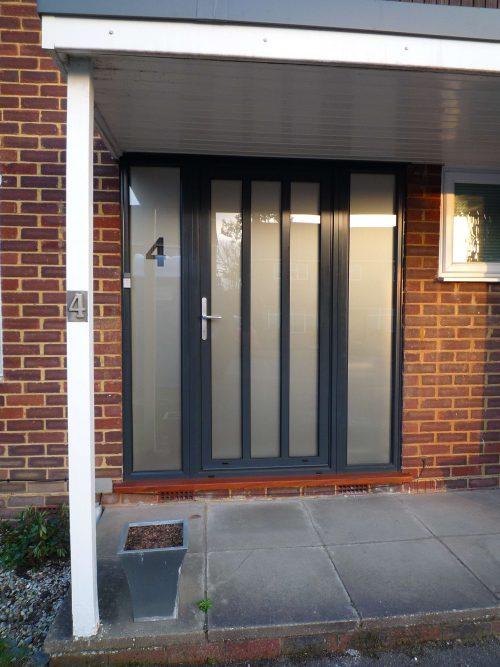 Black Aluminium Entrance Door