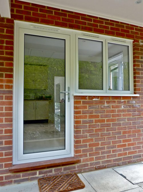 White Aluminium Front Door
