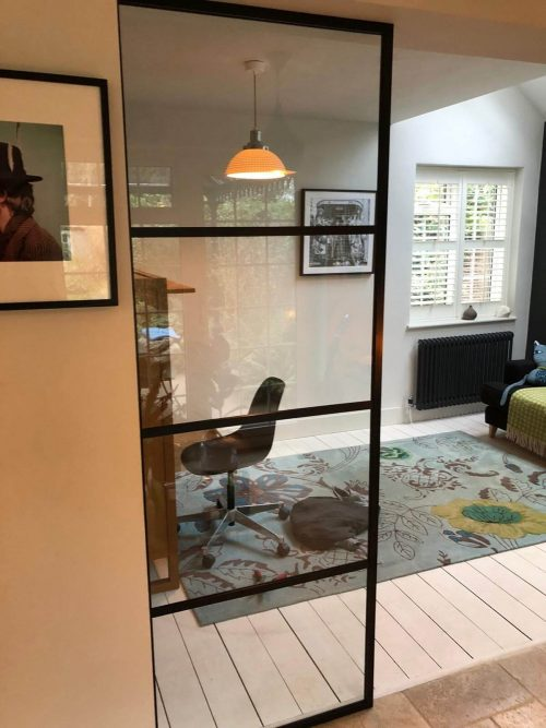 Single Fixed Glass Partition