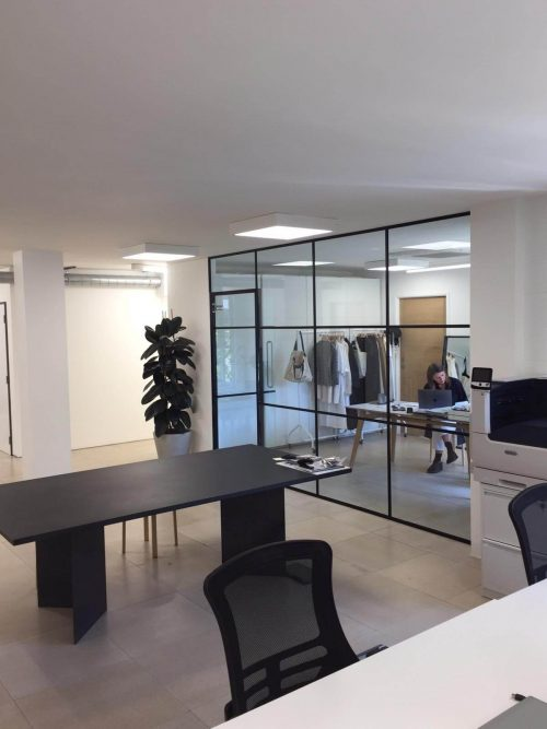 Large office partition