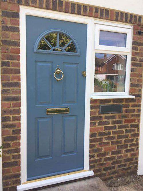 Blue Solidor Front Door