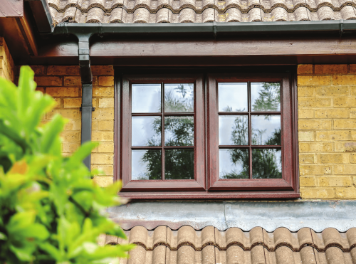 Brown Casement Window
