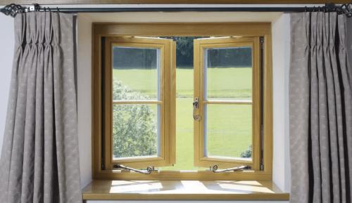 Brown casement window